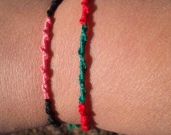 Set of 3 Spiral friendship bracelets, chinese staircase, string friendship, custom friendship, stackable bracelet set, friendship gift