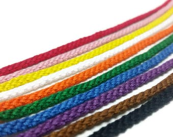 Set of 3 solid color friendship bracelets, string friendship, stackable bracelet set, best friend gift, friendship gift, gift for her