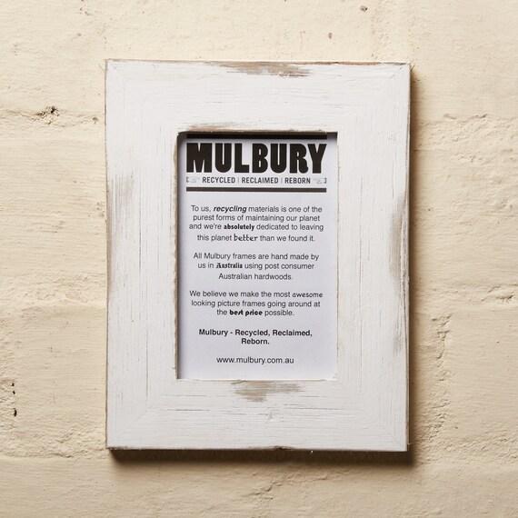 Recycled Wooden Photo Frame White Wash Finish 4 x | Etsy