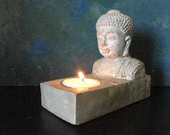 Béton Bouddha bougeoir - décor Zen - Alter bougie