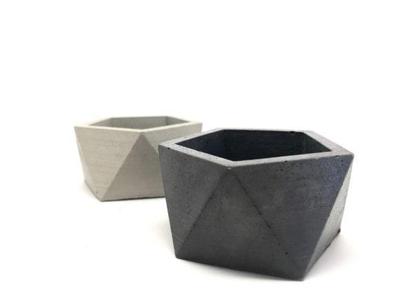 Sacred Geometry Icosahedron II Planter Handmade Wedding Decor Medium Concrete Geometric Planter