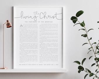 The Living Christ, The Church Of Jesus Christ of Latter-Day Saints, Beautiful Wall Print 5x7, 8x10, 11x14, 16x20, 24x36