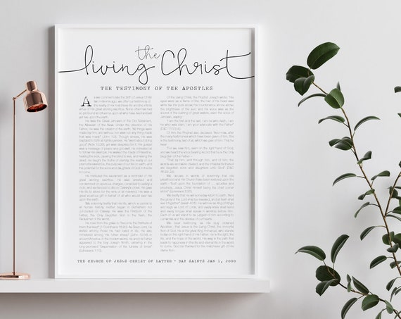 The Living Christ, The Church Of Jesus Christ of Latter-Day Saints, Beautiful Wall Print 5x7, 8x10, 11x14, 16x20, 24x36