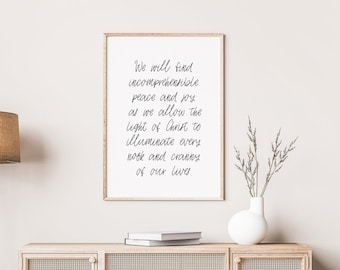 As We Allow The Light of Christ to Illuminate Every Nook and Cranny of Our Lives Print, 5x7, 8x10, 11x14, 16x20, 24x36 *print only*