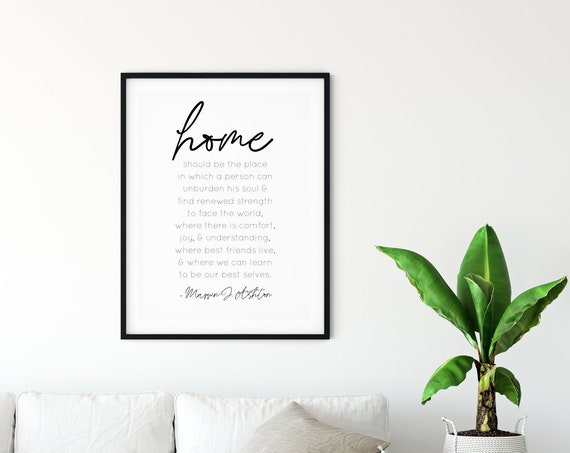 HOME Is Where Quote 24x36, 16x20, 11x14, 8x10, 5x7 Wall Decor, Wall Print, Home Decor, Home Quotes