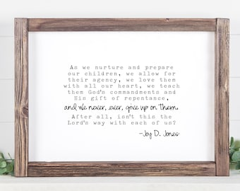 Never, Ever, Give Up On Them, quote by Joy D Jones, 5x7, 8x10, 11x14, 16x20, 24x36 Mother's Day Gift Idea!