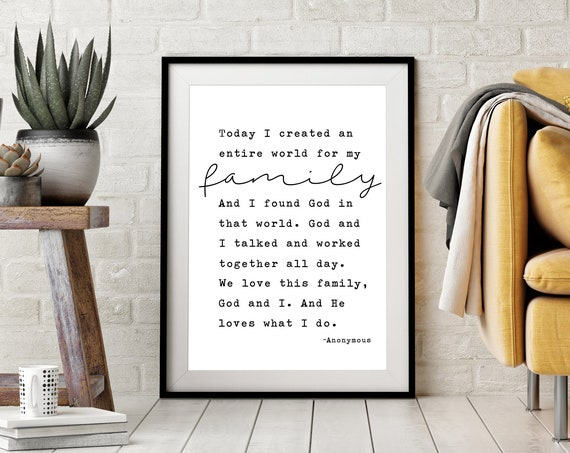 He Loves What I Do Quote 24x36, 16x20, 11x14, 8x10, 5x7, Wall Print, Home Decor, Family, Homemaker