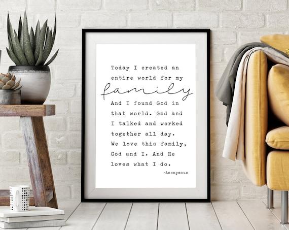 He Loves What I Do Quote 24x36, 16x20, 11x14, 8x10, 5x7, Wall Print, Home Decor, Family, Homemaker