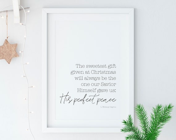 Perfect Peace 11x14, 8x10 or 5x7, Christmas Decor, Christmas Print, Names of Jesus Christ, Isaiah, Physical Copy*