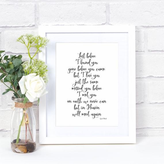 We'll Meet Again Print, Stillborn, Miscarriage, Pregnancy Loss 5x7 Wall Print, Home Decor, Bereavement