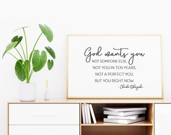 God Wants You Quote, 11x14, 8x10, 5x7, Black and White Wall Decor, Wall Print, Home Decor, LDS Quote, Religious Decor
