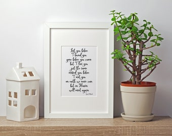 We'll Meet Again Print, Stillborn, Miscarriage, Pregnancy Loss 5x7, 8x10, 11x14, 16x20, 24x36 Wall Print, Home Decor, Bereavement
