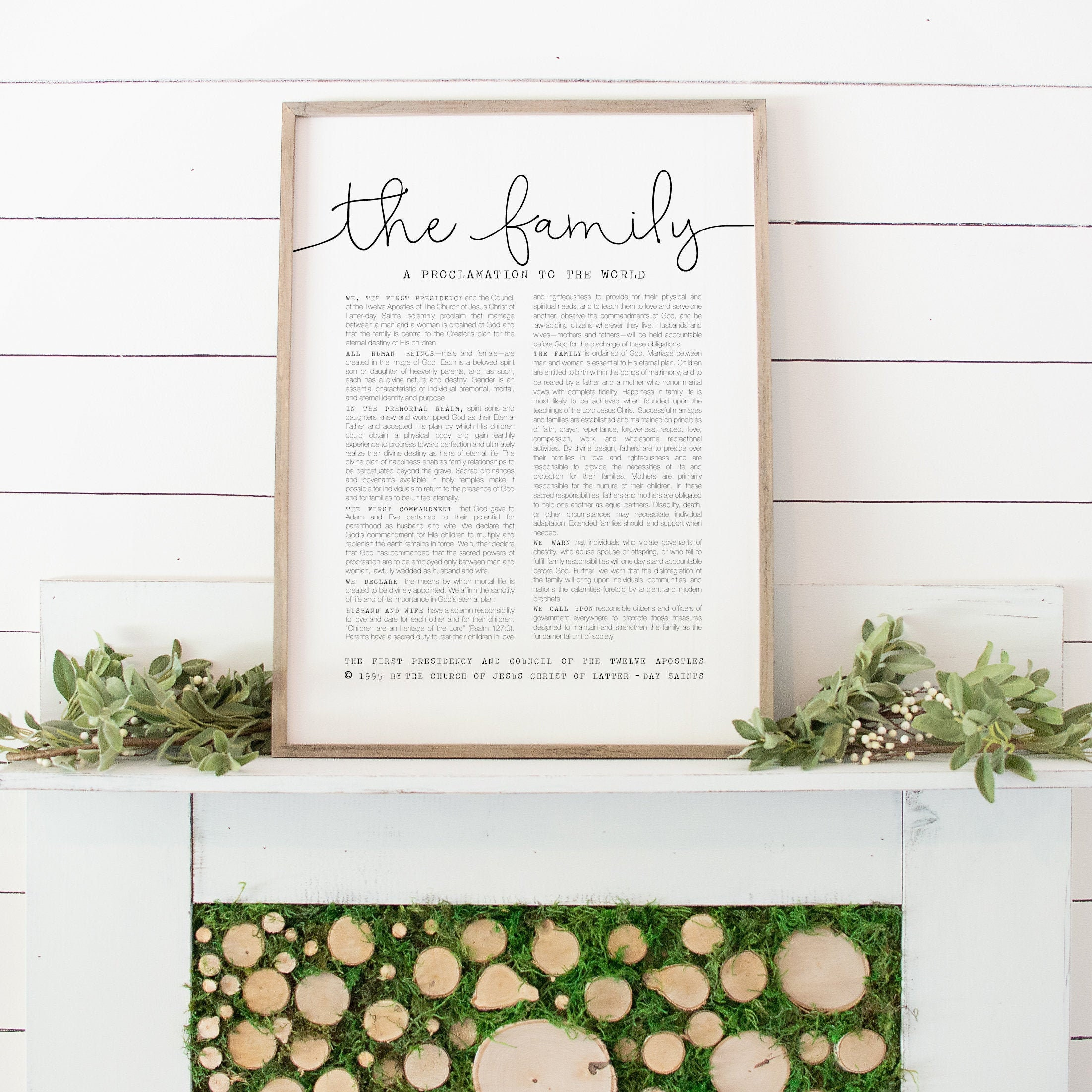 The Family Proclamation, The Church Of Jesus Christ Of
