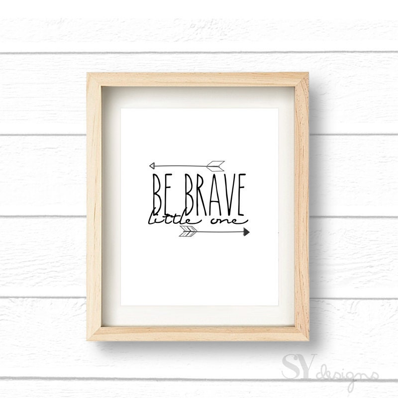 photo regarding Braves Printable Schedule called Be Courageous Minimal 1 8x10 Print, Estimates, Wall Print, Wall Decor