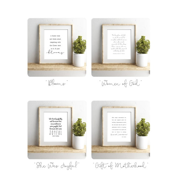 Quotes for Christian Women, Includes four high quality prints, choose from 5x7, 8x10, 11x14, 16x20 or 24x36