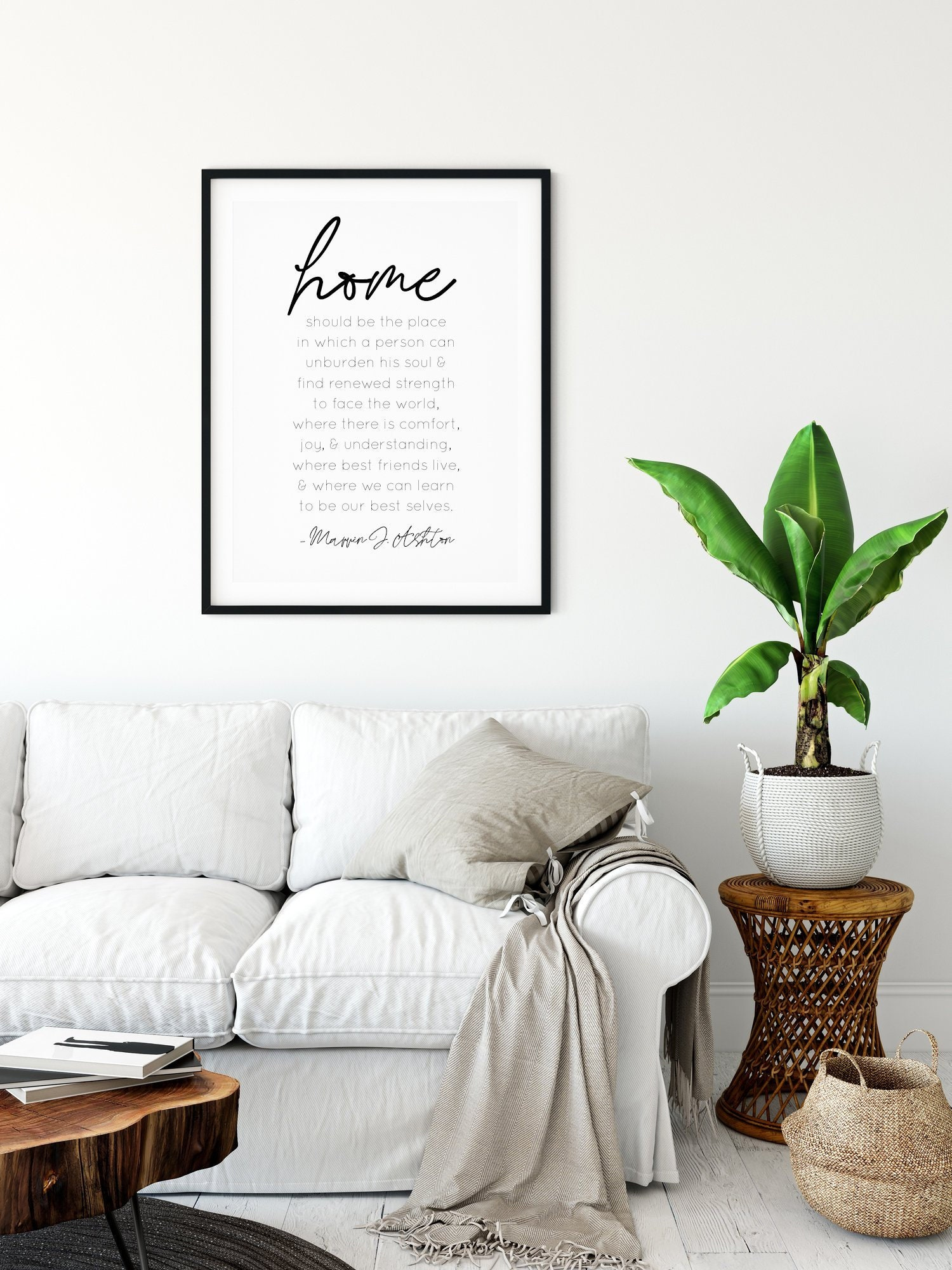 Home Is Where Quote 24x36 16x20 11x14 8x10 5x7 Wall