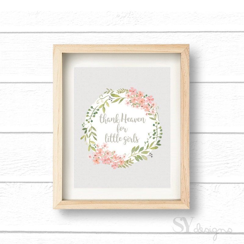 graphic about Printable Room Decor called Thank Heaven For Minimal Women of all ages, Wall Artwork, Printable, Electronic Report