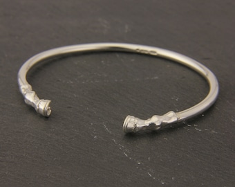 Horse Hooves Bangle in Sterling Silver.