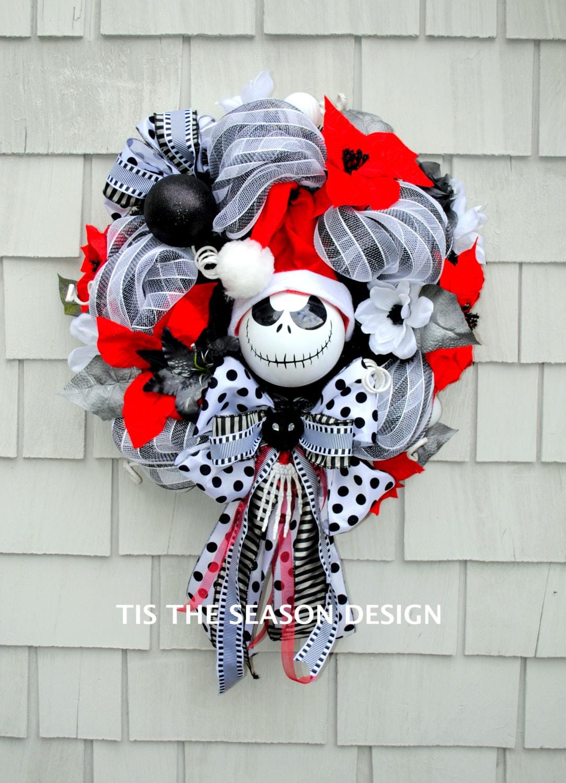 Nightmare Before Christmas Wreath Jack Skellington Wreath | Etsy