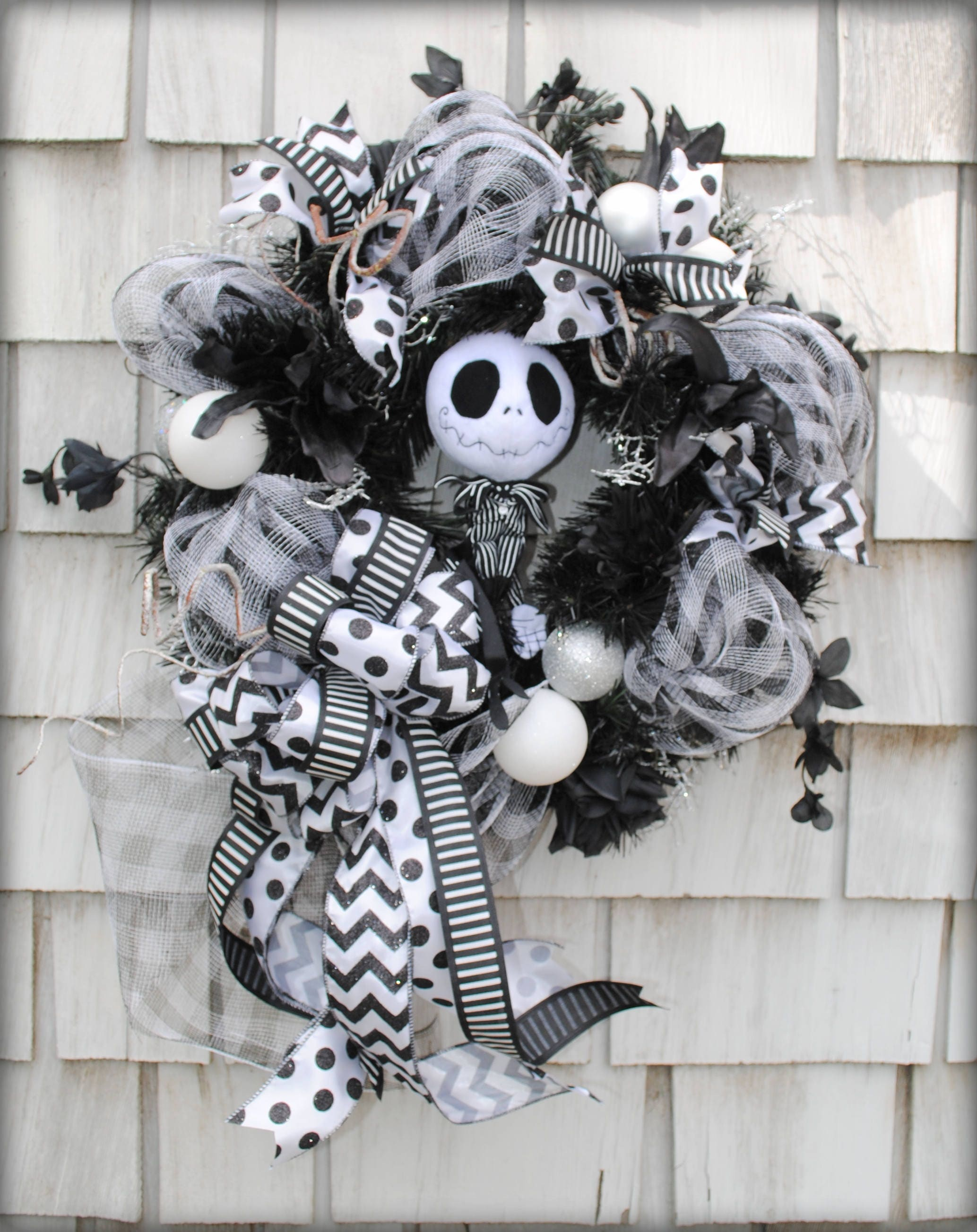 Halloween Wreath Christmas Wreath Nightmare Before Christmas | Etsy