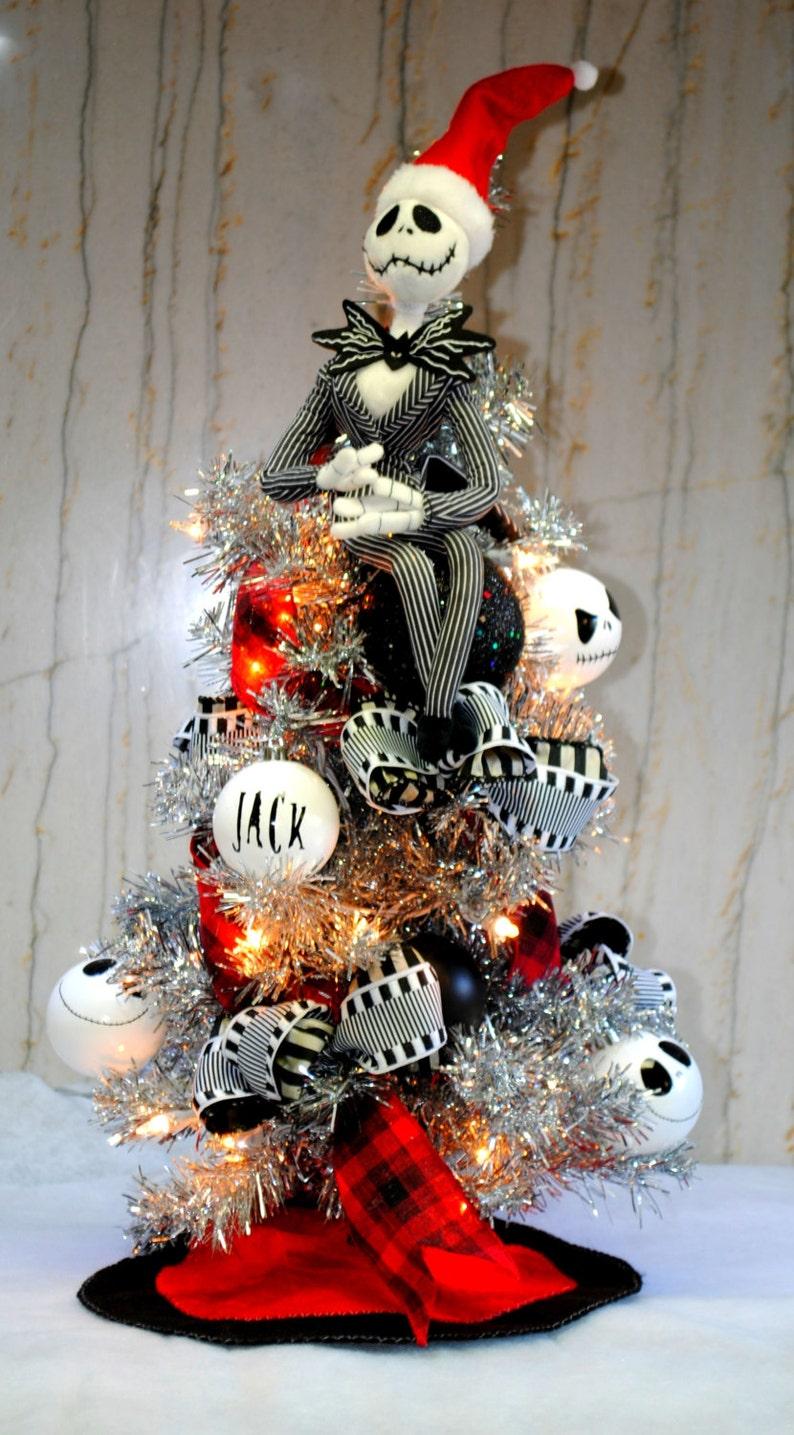 Jack Skellington Nightmare Before Christmas Tree Lighted With Etsy