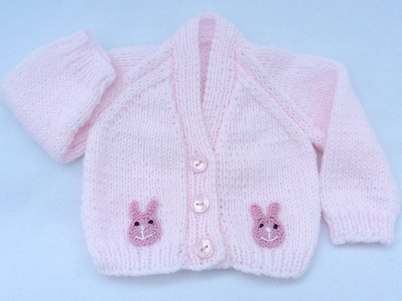 5f1166dffc8d Knitted baby sweaters. Hand knitted baby clothes. Pink