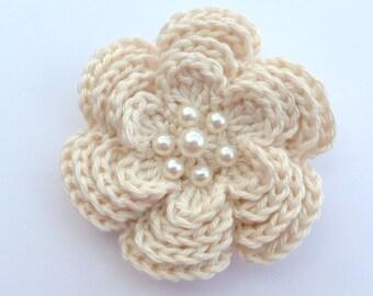 Crochet brooch. Large crochet flower brooch, Mother's day gift, birthday gift, brooch pin,  flower corsage, Christmas gift, stocking stuffer
