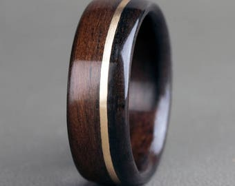 English Oak with 14K Yellow Gold Offset Inlay