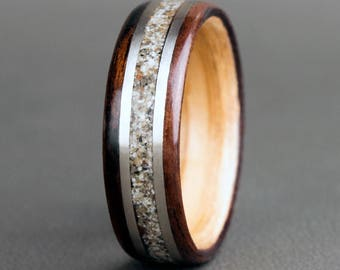 English Oak with Natural Sand and 14K White Gold Accents