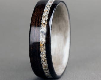 Ebony with Offset Natural Sand Inlay