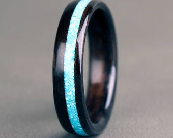 Ebony with Offset Turquoise Inlay