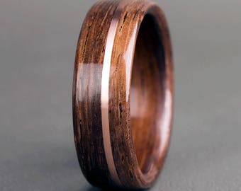English Oak with 14K Rose Gold Offset Inlay