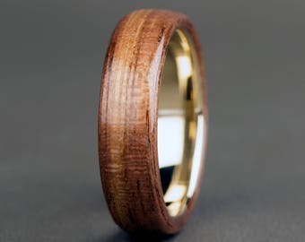Walnut with 14K Yellow Gold Base