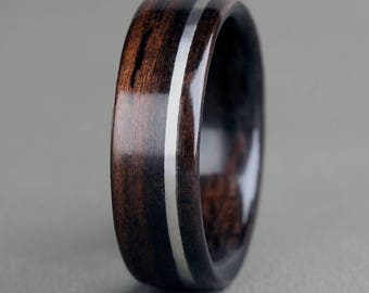 English Oak with 14K White Gold Offset Inlay