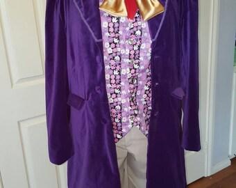 Willy Wonka costume- Men's sizing