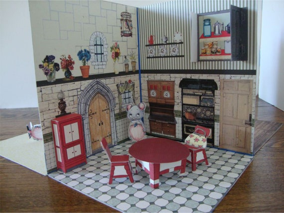 Sale. Printable Pop Up Open Up Paper Dollhouse Book.Sbooking, Dollhouse on farmers furniture sales paper, big lots sale paper, badcock furniture sales paper,