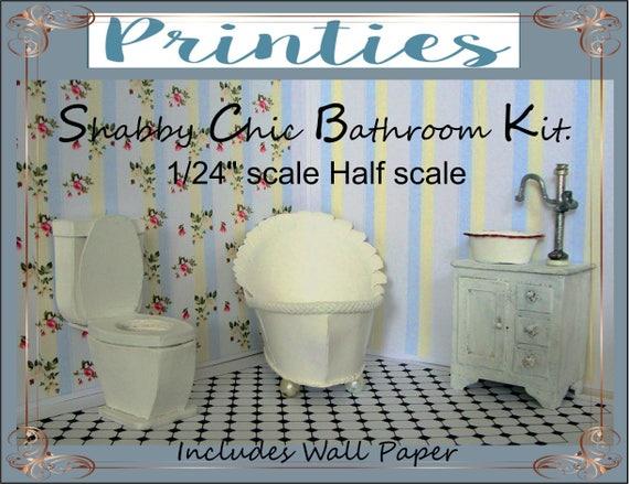 Dollhouse 1 24 Sale Half Scale Bathroom Bathroom Etsy