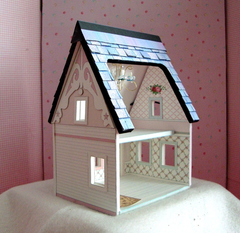 image regarding Dollhouse Windows Printable named Dollhouse Miniature- A Printable Paper Dollhouse in just Quarter Scale Immediate Obtain, Sale