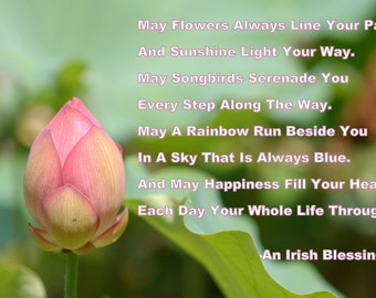 Buddhist saying buddhist quote wisdom buddhist art buddha etsy an irish blessing lotus flower irish prayer irish saying quote poem poetry irish wisdom print photography canvas art mightylinksfo