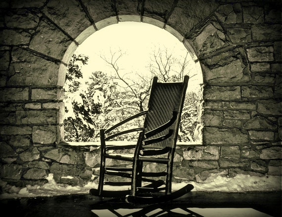 image 0 ... & Empty Rocking Chair Rocker Still Life Serene Tranquil Stone | Etsy