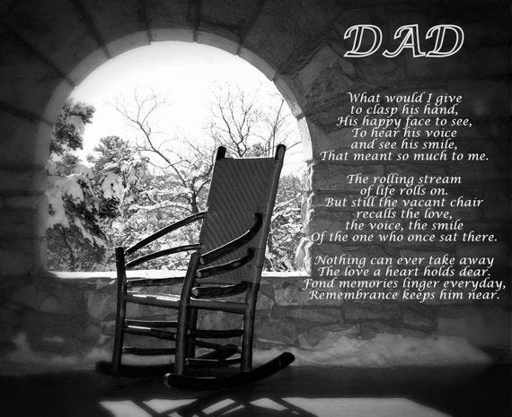 Missing Dad Poem Dadu0027s Empty Chair Remembering Dad Poem