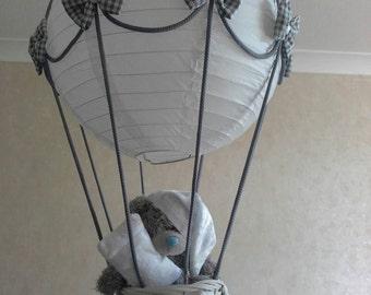 Hot Air Balloon Nursery Light Shade With Tatty Teddy Made