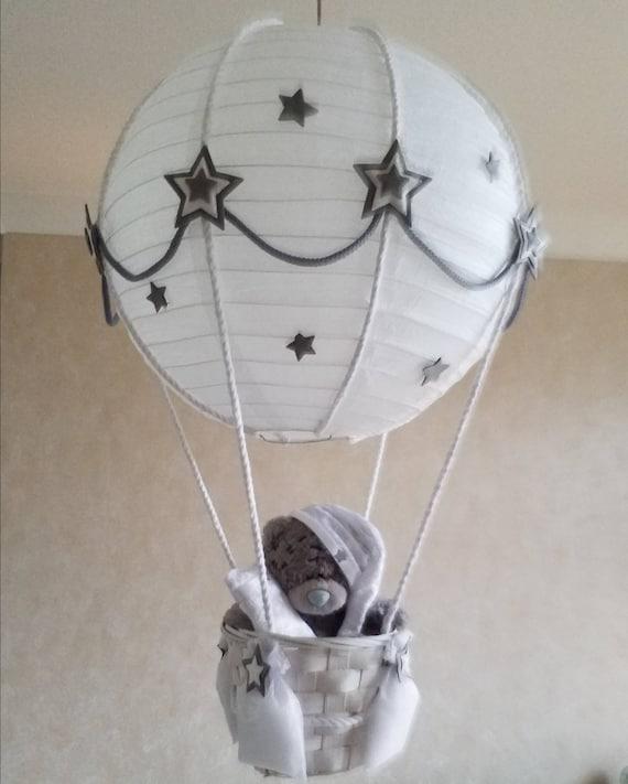 Hot Air Balloon Nursery Lamp Shade Grey, Hot Air Balloon Lampshade