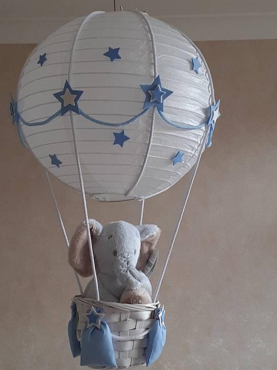 Elephant Hot Air Balloon Nursery Lamp, Hot Air Balloon Lampshade