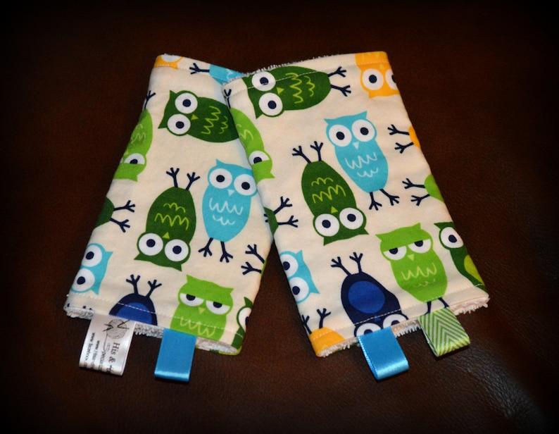 fa1bed80178 Owls Drool Pads   Top Bib Ser Blue Green Yellow Custom