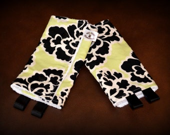 Chew Pads // Ergo Beco Tula Boba Lillebaby and MORE // Black Chartreuse Floral