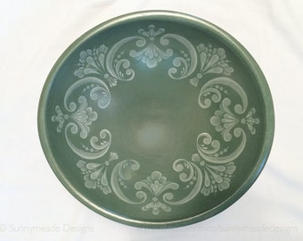 Hand painted green bowl