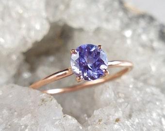 Tanzanite Ring - Solitaire Tanzanite, Delicate Tanzanite Ring, Solitaire, Birthstone Ring, December Birthday, December Birthstone