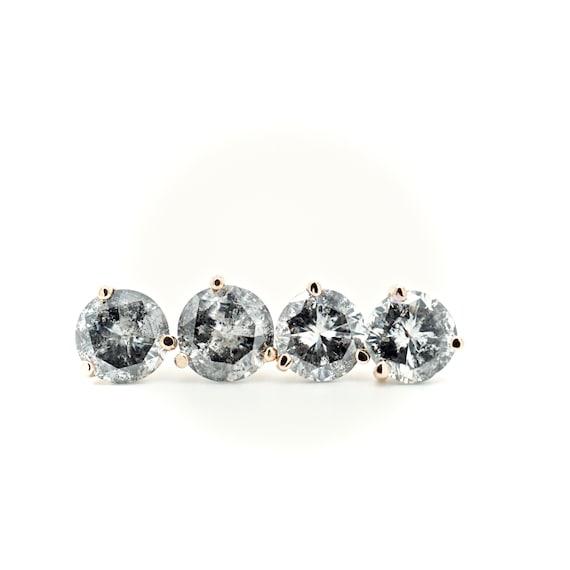 Custom Salt And Pepper Diamond Stud Earrings 1 Carat Diamond Etsy