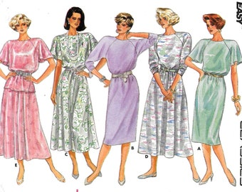 A Full Skirt, Round Neckline Top, and Straight or Full Skirt Dress Sewing  Pattern for Women: Uncut - Sizes 8-10-12 • Butterick 3626